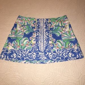 Lilly Pulitzer blue pink cotton skirt, 6
